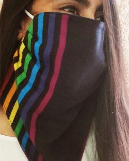 Stripes Black Mask Scarf