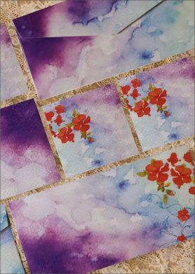 Hibiscus Stationery Set