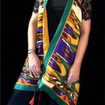 Green Yellow Stolewrap by  Triveni Mahajan