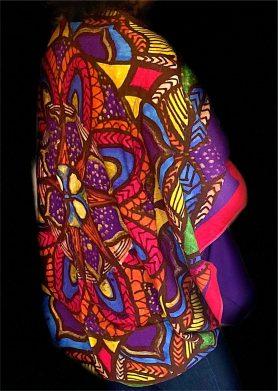 Magenta Purple Mandala Stolewrap by  Triveni Mahajan