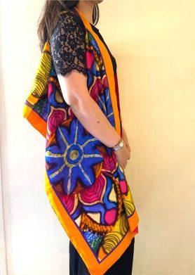 Multicoloured Stolewrap by  Triveni Mahajan