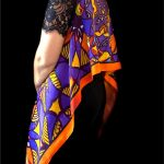 Orange Blue Stolewrap by  Triveni Mahajan