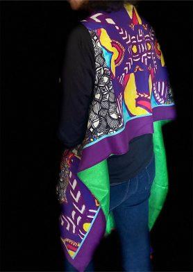 Purple, Black & White Stolewrap by  Triveni Mahajan