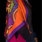 Purple Orange Mandala Stolewrap by  Triveni Mahajan