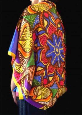 Yellow Blue Mandala Stolewrap by  Triveni Mahajan